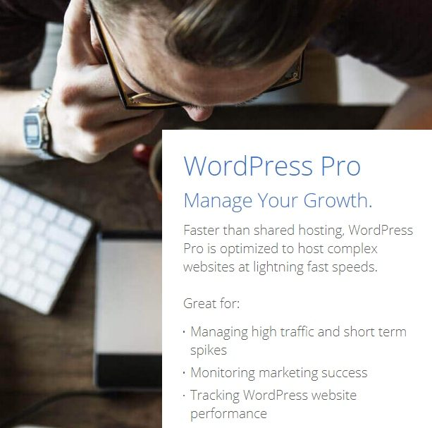 bluehost introducing wordpress pro
