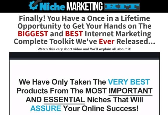niche marketing kit review - introduction of the product
