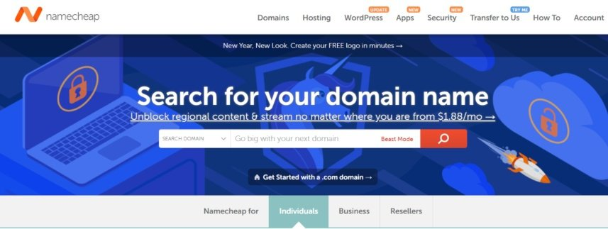 the cost to start a blog - $9 for a domain name with namecheap