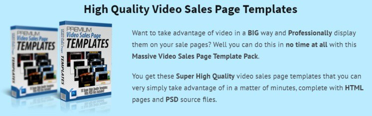 video sales page templates