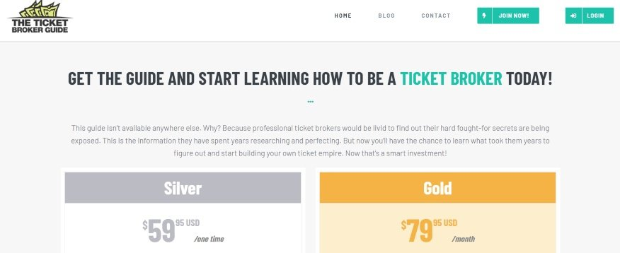 how much does the ticket broker guide cost