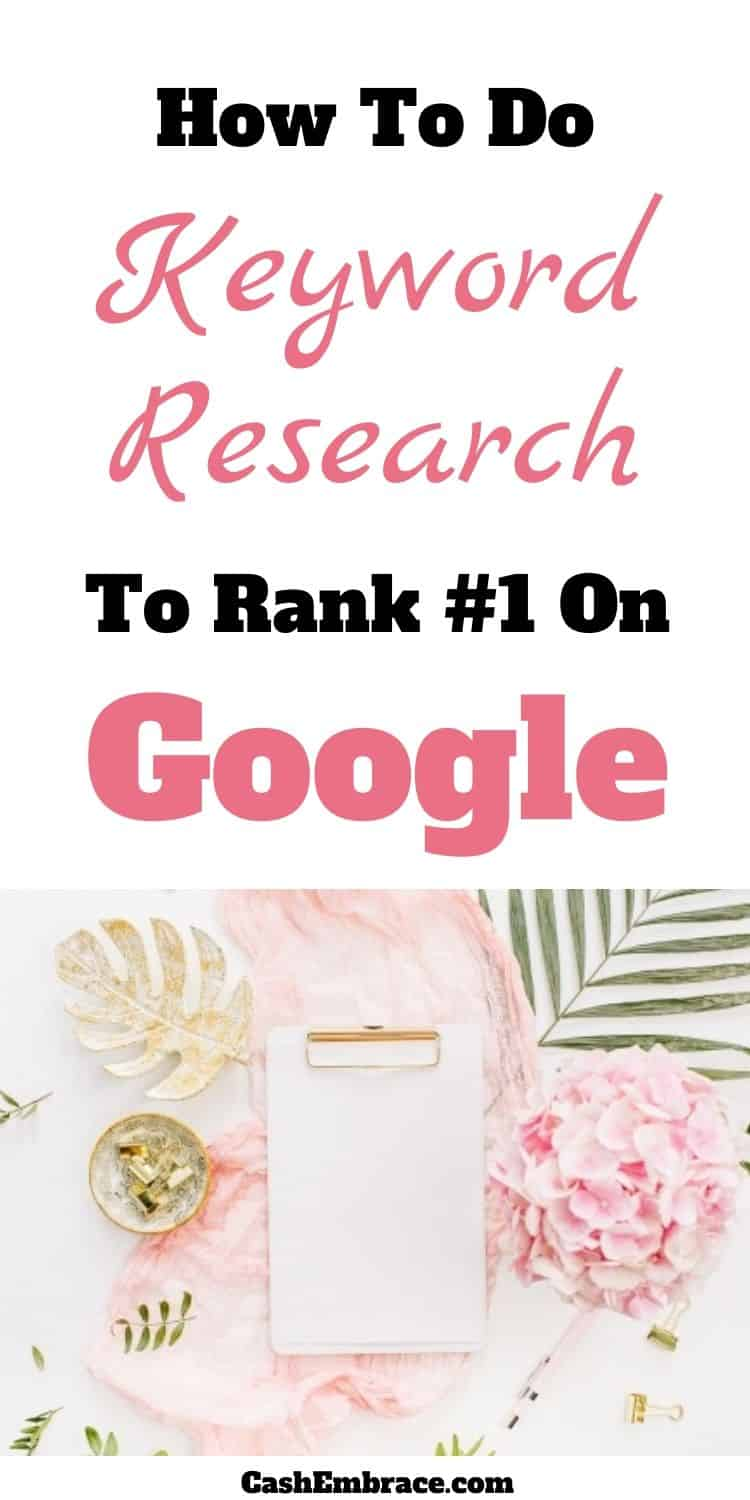 how to do keyword research for seo and rank number one on google