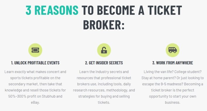 who is the ticket broker guide perfect for