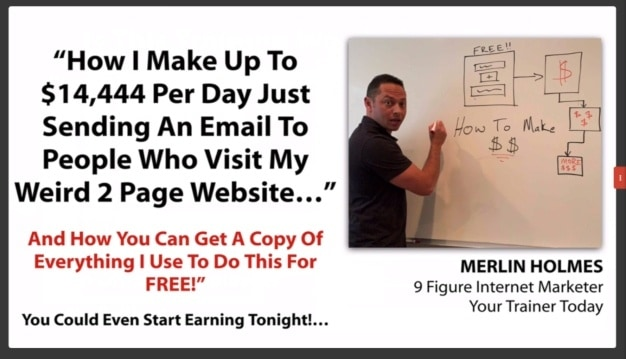 inside the webinar of 1K a day fast track