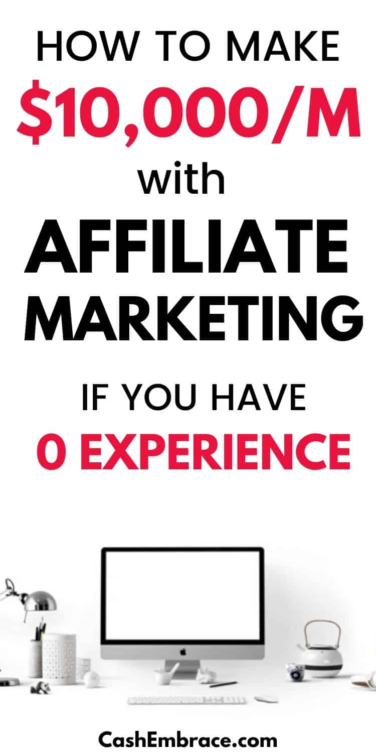 how to make $10,000 per month with affiliate marketing