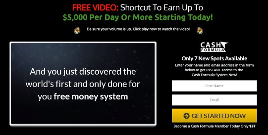 cash formula review introduction of the product