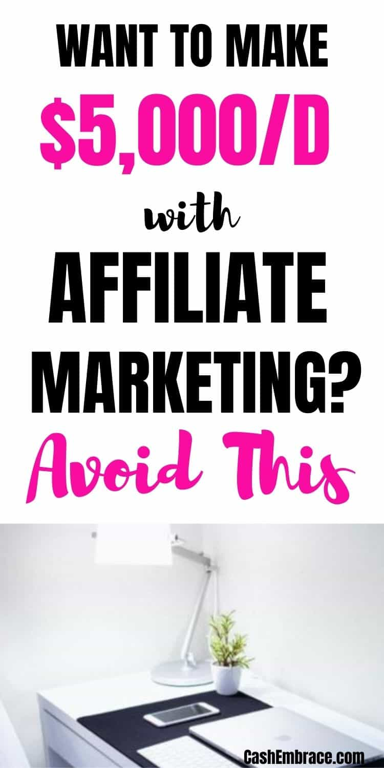 how to make $5,000/day with affiliate marketing