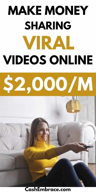 make money posting videos online earn $2,000 per month