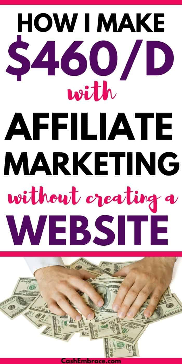 make money with affiliate marketing without creating a website
